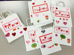 Valentine bags for our party