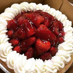 Fresh Strawberry Pie…it's the taste of summer!  PC:@olivia_sowoon #StrawberryPie #MarieCallenders #FreshFruit