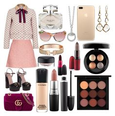"""Sin título #295"" by frichu on Polyvore featuring moda, Gucci, Ippolita y MAC Cosmetics"