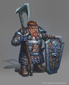 Dwarf With Axe by yoggurt on DeviantArt