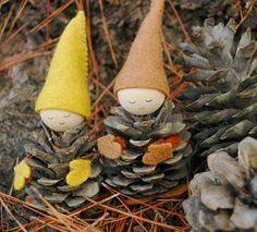 gnomes pinecones