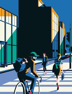 French-born, London-based illustrator Malika Favre's work is often described as being part pop art and part optical art –... Book Design Layout, Fashion Graphic, Brochure Design, Motion Design, Flat Design, Magazine Design, Direction Artistique, Design Reference, Property Design