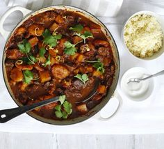 Lamb, squash & apricot tagine recipe - Recipes - BBC Good Food