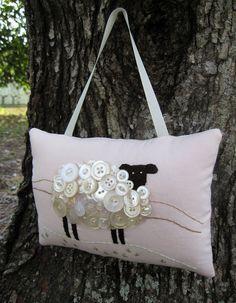 PINK Ireland Sheep Spring Decor  Primitive by WickedlyCreative, $28.00