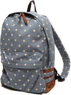 Polka dots backpack / ShopStyle: アネロ anello