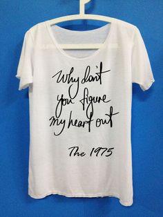 The 1975 shirt heart out The1975 Shirt Bastille Shirt T Shirt T-Shirt TShirt Tee Shirt - Size S M L XL XXL