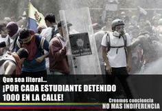 """""""For every student detained 1000 shall take their place""""  Maduradas (facebook)"""