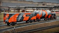 Railway Vehicles Original Camouflage + Making of by Alexey Maslov, via #Behance #Branding