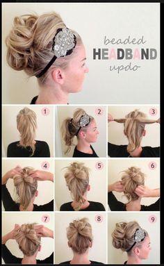 Headband Updo from Salon Agape in Oldsmar/Palm Harbor
