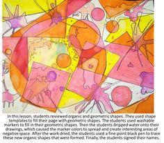 Geometric and organic watercolor