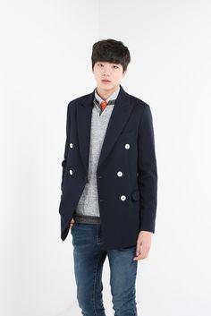 White button double jacket  $58.3