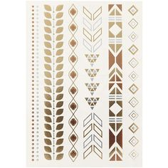 TOPSHOP Aztec Temporary Tattoo Pack ($12) ❤ liked on Polyvore featuring accessories, body art, tattoo and mixed metal