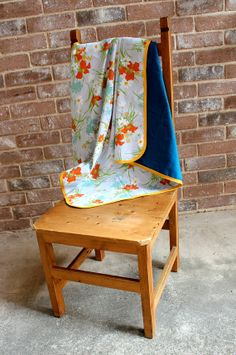 Upcycled Vintage Pillowcase & Flannel Baby by ThisLittleLemon, $18.00
