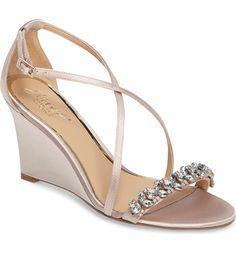 d19babe73172a1 Jewel Badgley Mischka Embellished Strappy Wedge Sandal (Women)
