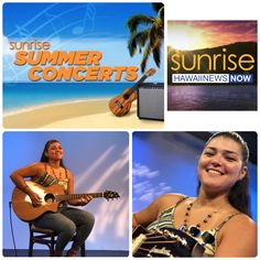 Aja Gample, Hawaii Recording Artist and 2-time final ballot nominee for this yearsʻ Nā Hōkū Hanohano Awards for her release entitled Huaʻi!  She is our guest for our #HappyAlohaFriday!  Aja will play three songs throughout the morning!  She composes her own songs in Ōlelo Hawaii and has learned her slack-key guitar artistry from her grandfather.  Listen for Aja Gample tomorrow on Sunrise! #HNNSunrise #SunriseSummerConcertSeries #ajagample Hawaii News Now, Aloha Friday, Home Team, Sunrise, Awards, Guitar, Key, Songs, Concert