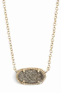 Kendra Scott 'Elisa' Pendant Necklace - Platinum Drusy/Gold (?)  http://www.kendrascott.com/elisa-pendant-necklace-in-platinum-drusy.html/