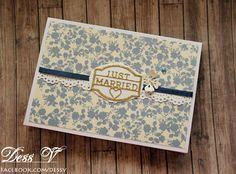 Dess V: Сватбена картичка в тъмно синьо и златно