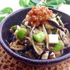 レシピはこちら http://pecolly.jp/user/profile/18513 - 15件のもぐもぐ - 2度おいしい‼︎ ひじき&枝豆チーズの和風スパサラ by nakimusiyuu53