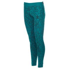 adidas Originals Aqua Womens Dear Baes Leggings via Polyvore featuring pants, leggings, legging pants, aqua pants, adidas originals, blue leggings and blue pants