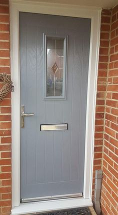 High performing and securing your home against burglary. See some of our recent XtremeDoor installation projects throughout Liverpool and the North West. Cottage Front Doors, Front Door Porch, Black Front Doors, House Front Door, Painted Front Doors, Cottage Doors Interior, Grey Composite Front Door, Front Porches, Investment House