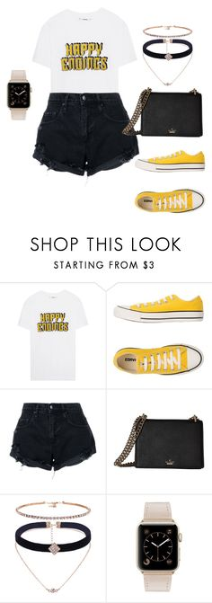 """Sem título #110"" by andick on Polyvore featuring moda, Ganni, Converse, Nobody Denim e Kate Spade"