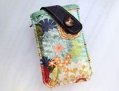 Summer Florals Mobile Phone Pouch-Samsung-Sony from Lily's Handmade - deseo 2 regalos hechos a mano, tarjetas, encantos, bolsas, cajas, artículos de papel by DaWanda.com