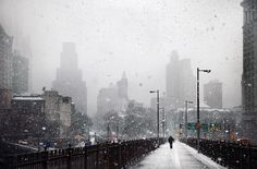 Christophe Jacrot is a French photographer who has developed an art project on the bad weather in major cities. The work of Christopher Jacrot relates The Snow, Christophe Jacrot, Paris Skyline, New York Skyline, Snow Photography, French Photographers, Street Photo, Winter White, New York City