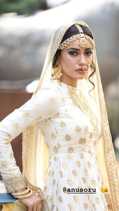 Indian Dress Up, Indian Attire, Indian Outfits, New Outfits, Indian Fashion, Boho Fashion, Fashion Dresses, Pakistani Bridal, Indian Bridal