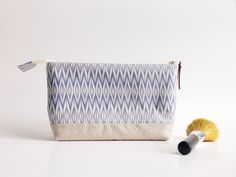 Small Makeup Bag with Waterproof Lining Zippered #handmade by #MadeOnMainVT on #etsy, $24.00
