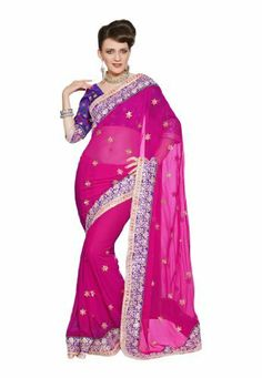 Fabdeal Indian Designer Georgette Multicoloured Embroidered Saree Fabdeal, http://www.amazon.de/dp/B00INWM2CQ/ref=cm_sw_r_pi_dp_Sv7otb1YT8CRV