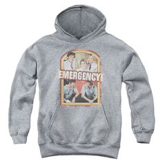 "Checkout our #LicensedGear products FREE SHIPPING + 10% OFF Coupon Code ""Official"" Emergency / Retro Cast - Youth Pull-over Hoodie - Heatherheather - Emergency / Retro Cast - Youth Pull-over Hoodie - Heatherheather - Price: $49.99. Buy now at https://officiallylicensedgear.com/emergency-retro-cast-youth-pull-over-hoodie-heatherheather"
