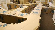 Créez un labyrinthe géant en cartons pour amuser vos enfants ! Découvrez d'autres ateliers pratiques et ludiques chaque mercredi avec C-MonEtiquette.