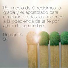Romanos 1:5 #PorMedioDeÉl #Gracia #Apostolado #Enviada #Sal #Luz #Influencia #Persuación #JesúsElCentro #ALasNaciones Convenience Store, Amor, Romans, Thanks, Convinience Store