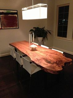 Live Edge Dining Table by NaturesKnots on Etsy