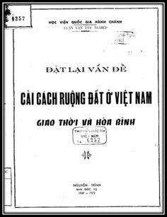 Luận Văn Tốt Nghiệp - Đặt Lại Vấn Đề Cải Cách Ruộng Đất Ở Việt Nam Giao Thời Và Hòa Bình   Sách Việt Nam