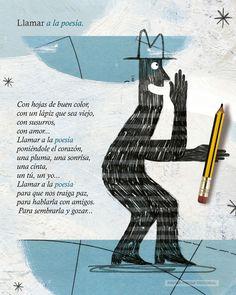 """Llamar a la poesía  """"Bolso de niebla"""" de Maria Rosa Serdio Gonzalez y Julio Antonio Blasco López Sea, Color, Editorial, Happy, Friends, Children's Books, Writers, Illustrations, Colour"""