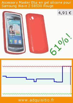 Accessory Master Etui en gel silicone pour Samsung Wave 2 S8530 Rouge (Accessoire). Réduction de 61%! Prix actuel 4,91 €, l'ancien prix était de 12,58 €. https://www.adquisitio.fr/accessory-master/rouge-housse-%C3%A9tui-gel