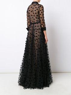 Carolina Herrera прозрачное вечернее платье в горох