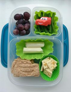 Lightning McQueen lunch via Following In My Shoes
