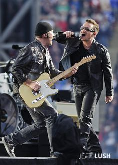 - Bono & The Edge - 360 Tour, Commonwealth Stadium, Edmonton, Alberta, Canada by Jeff Lush U2 2017, Great Bands, Cool Bands, Rock Roll, Music Is Life, My Music, The Edge U2, U2 Band, Paul Hewson