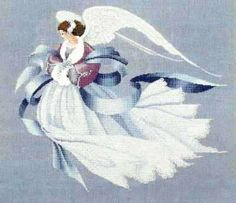 """Lavender and Lace Victorian Designs """"Angel of Winter""""  L - New in Package by WhimseysByAnne, $8.00"""
