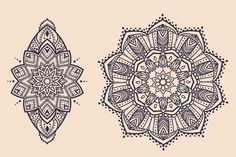 Set 6 mandala ornamental. Vector by anvino on Creative Market