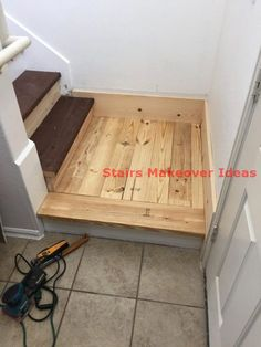 As with every other area of your property the steps will ultimately put on out and have to be replaced or refinished. This is also true for that basement stairs. Redo Stairs, Basement Staircase, Staircase Remodel, Basement Flooring, Staircase Design, Stair Redo, Craftsman Staircase, Wood Staircase, Stair Renovation