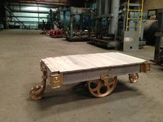 Coastal Vintage Lineberry Factory Cart Coffee by BransonPrice, $375.00