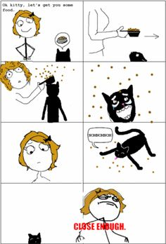 Cats Go Crazy After Glancing Their Food... - Posted in Funny, Troll comics and LOL Images - Mix Pics