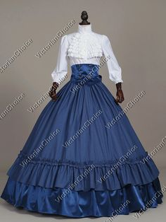 5626a5ab31 Flowing blue cotton tartan wide sweep full skirt with wide ruffles at  bottom hem. We specialize in designing and making historically inspired  dresses ...