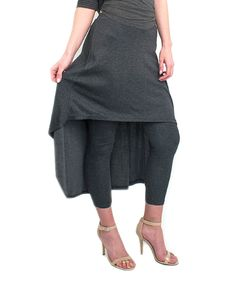 Look what I found on #zulily! Gray Hi-Low Skirted Leggings - Women & Plus by Magid #zulilyfinds