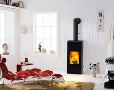 Der Kaminofen Mono von Austroflamm eignet sich durch seine kompakten Maße und sein elegantes Design auch gut für kleine Räume.