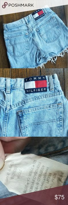 Tommy Hilfiger Denim Cut off high waist shorts VINTAGE Tommy Hilfiger Denim Cut off high waist shorts. Excellent condition. Distressed cutoffs. These are shorts from the 90's. Sz 6, Waist 27 Tommy Hilfiger Shorts Jean Shorts