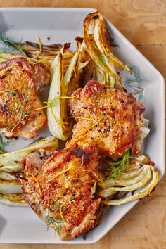 Roasted Chicken Thighs with Fennel & Lemon